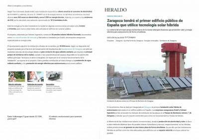 imagen de ZARAGOZA TENDRÁ EL PRIMER EDIFICIO PÚBLICO DE ESPAÑA QUE UTILICE TECNOLOGÍA SOLAR HÍBRIDA